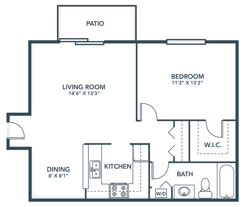 One Bedroom Apartments in Westchester, IL | Grays Pointe Apartments - Grays_Pointe_Floor_Plans-Allegheny