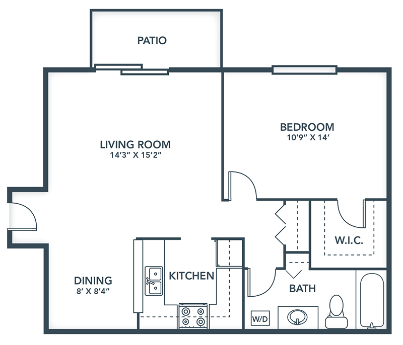 Floor Plans: 1 & 2 Bedroom Apartment Designs | Grays Pointe Apartments - Grays_Pointe_Floor_Plans-Belvidere
