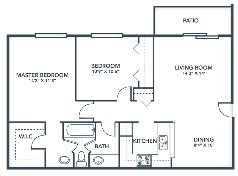 Floor Plans: 1 & 2 Bedroom Apartment Designs | Grays Pointe Apartments - Grays_Pointe_Floor_Plans-Dorchester
