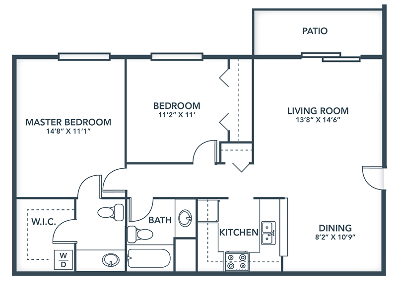 Floor Plans: 1 & 2 Bedroom Apartment Designs | Grays Pointe Apartments - Grays_Pointe_Floor_Plans-Essex